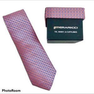 Feraricci Silk Tie Hanky & Cufflinks Boxed Set